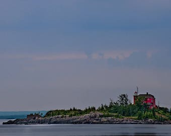 Marquette Lighthouse Print, Marquette Michigan Wall Art, Lighthouse Fine Art Print, Marquette Michigan Photo