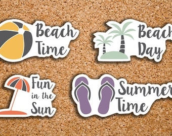24 Beach Day, Vacation, Summer Sampler Icon Stickers for 2017 Inkwell Press IWP-DC67