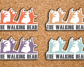 20 The Walking Dead Season 7, Zombie Hand Icon Stickers for 2017 Inkwell Press IWP-DC70