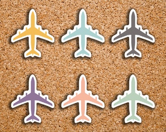 54 Airplane, Flight, Travel Icon Planner Stickers for 2017 Inkwell Press IWP-DC80