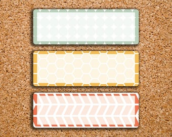 18 Hexagon, Circle & Chevron Patterned Quarter Box Planner Stickers for 2017 Inkwell Press IWP-S72