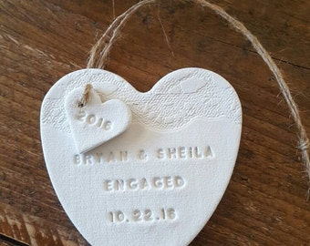 Engagement Ornament ~ Engaged Ornament ~ Personalized Engagement Ornament