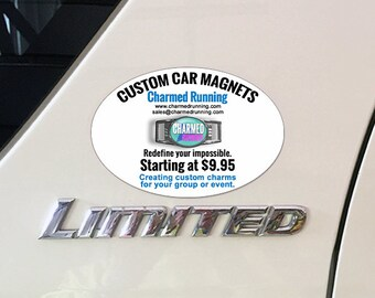 Custom Car Magnets NO MINIMUM ORDER Your Logo or Custom Design Quantity 1-25