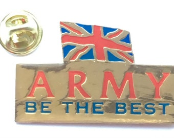 """Large British Army """"Be The Best"""" Enamel Lapel Pin Badge"""
