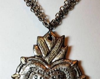 Sacred Heart V Pendant Necklace