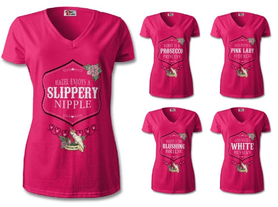 Cocktail Themed Personalised Hen Do T-shirts
