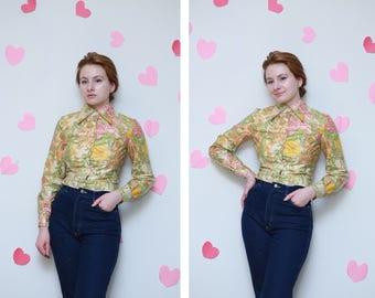 Vintage 1960s Addenda Jacket/Floral patterns