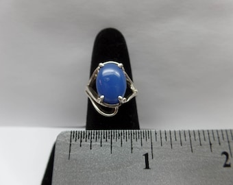 Vintage Sterling Silver Ring w/ Blue Stone / FCM