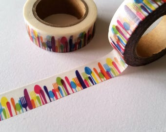 Colorful Cutlery Washi Tape