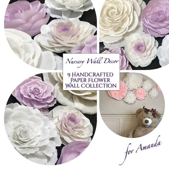 Amanda's Custom Paper Flower Set, Custom St of