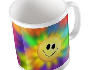 Smile and rainbow mug