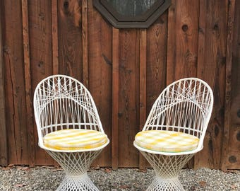 LOCAL NYC ONLY || Mid Century Russell Woodard Spun Fiberglass Chairs || Set of 2
