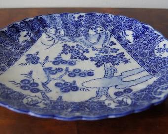 Antique Oriental Blue and White Imari Porcelain Plate