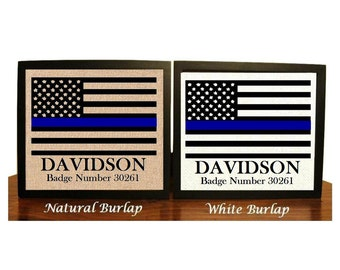 Personalized Police officer gifts, thin blue line, gifts for police officer, police academy graduation, police decor, police wife, policeman