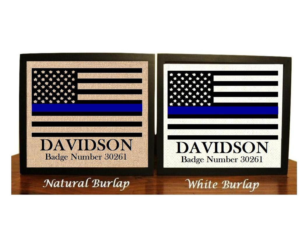 Asian christmas ornaments - Personalized Police Officer Gifts Thin Blue Line Gifts For Police Officer Police Academy