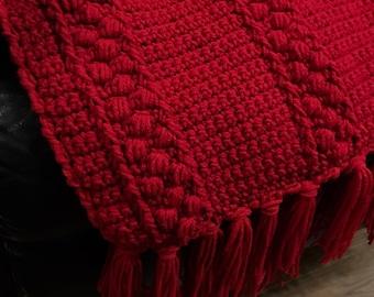 Red Afghan, Crocheted
