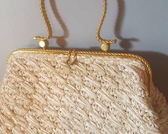 Marcus Brothers Made in Italy Woven Handbag - 1960s Purse