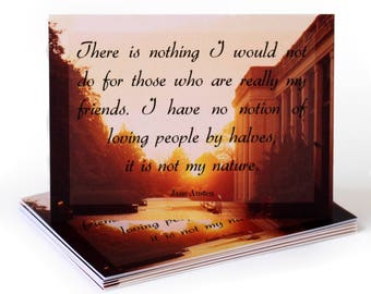Jane Austen Greeting Card on Friendship