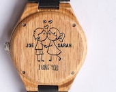 Anniversary Gift, Wood Watch, Men's Watch, Custom Watch, Mens Watch, Groomsmen gift,  Ash Wood, Wooden Watch, Wood Watches, Engraved Watch,