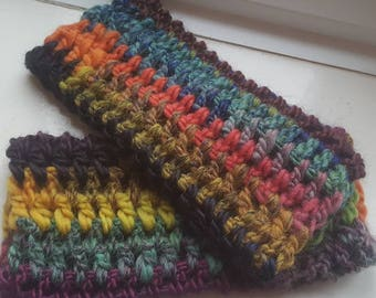 Paintbox handwarmers/ fingerless gloves