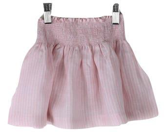 Rose water stripe skirt