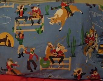 Cowboy Christmas Pillowcase