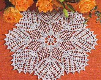 Sale!!  white crochet doily