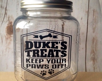 Dog Treat Jar, Personalized Dog Treat Jar, Cat Treat Jar, Pet Treats, Customized Pet Gift, Dog Gifts, Cat Gifts, Funny Dog Gift
