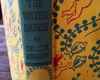 The Water Babies - Charles Kingsley - 1950s Fairy tales - Heirloom library - classic book - fairy stories - Janet & Anne Johnston -