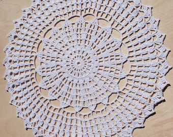 Crochet doily / Lace / White (color Nr.1) / 11 inches (28 cm)