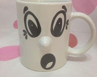 Shocked Face Mug, Gabby Girl Coffee Mug, Gag Gift Mug