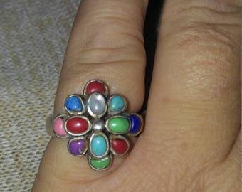 Multi-Stone Sterling Ring
