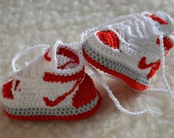 Nike Air Jordan 1 Crochet Baby Booties