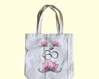 Lotus OM bag Medium tote bag 13x13x3 inches ECO-tote bag