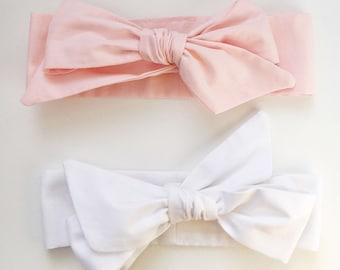 Baby Head Wrap Set of Two - Bow Headbands