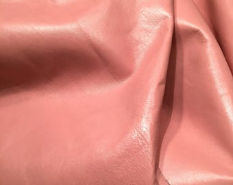 Pink Leather Hide / Pink Leather By the Yard / Genuine Leather / Blush Pink Leather / Light Pink Leather / Pink Leather Fabric / Half Hide