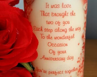 Anniversary LED candle
