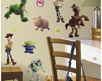 Toy story bedroom/birthday stick and peel wall decal decoration