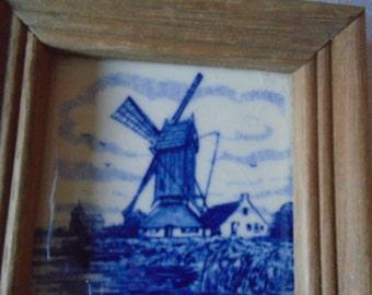 miniature delft framed tile.
