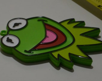 "Vintage Hallmark MONOGRAM PRODUCTS KERMIT the Frog Hand-Painted Cookie Cutter | 1980 4"" Muppets Jim Henson"