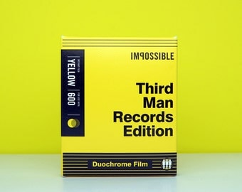 Impossible Project Polaroid 600 Film - Third Man Records Edition -  Black & Yellow Duochrome