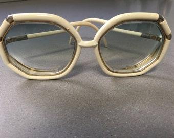 Beige Ted Lapidus Vintage Sunglasses / Frames