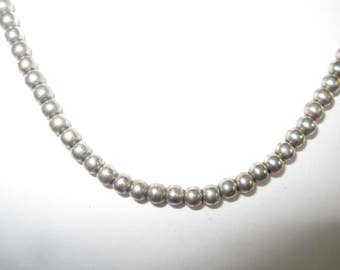 R-9  Old Style Vintage Necklace 16 in long sterling silver