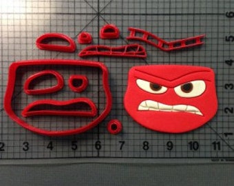 Inside Out Anger Cookie Cutter 3 inches