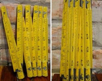 Vintage Ruler • Rul-Wel Folding Ruler • 72 Inch Wooden Ruler • Czechoslovakia Zig Zag Ruler • Old Ruler • Craft Supplies • Carpenter Gift