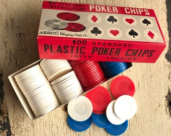 100 Standard Poker Chips Arrco Playing Card Co.