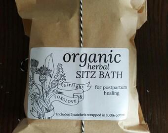 Organic Herbal Sitz Bath Satchels for Postpartum Healing