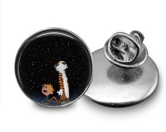 Calvin and Hobbes Night Sky Tie Tack