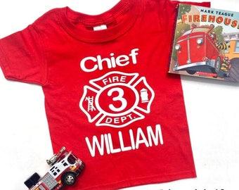 Firefighter Birthday shirt. Firefighter Shirt. Fireman Birthday Shirt. Boys Birthday Shirt. Firefighter birthday party Boys Shirt, Boys bday
