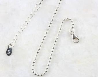 Sterling silver ball bracelet, Sterling silver chain bracelet, Dainty silver chain bracelet, Everyday silver bracelet (B31)
